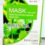 маска из зеленого чая с желтком