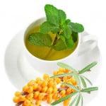 зеленый чай с мятой и облепихой